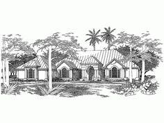 Mediterranean house plan - original drawing