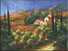 Tuscan Monastery by Art Fronckowiak - Kitchen Backsplash / Bathroom wall Tile Mural Tile Mural Store-Kitchen,http://www.amazon.com/dp/B008TVSNII/ref=cm_sw_r_pi_dp_JW7Tsb1DXB049RDR