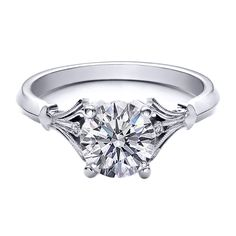 Round Diamond Engagement Ring Bezel Set Accents - Simple with a little Zip-a-dee-do-dah added.  Lovely!