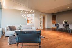 Singelfamily house  Built: 2016 Architect: Marita Hamre Floor: Walnut Andante, Boen flooring Furniture & lamps: Kielland AS