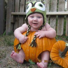 Think I can find a pumpkin big enough for Riley? Cutest Babies, Baby Rocker, Pumpkin Photos, A Pumpkin, Photography Ideas, Crochet Hats, Big, Sweet, Knitting Hats