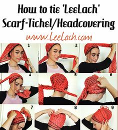 Leelach| Buy Tichels Online. thought this interesting...helpful with long hair.