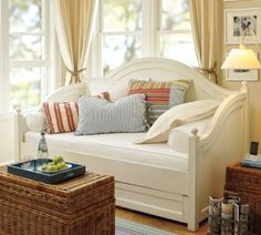 Distressed Pottery Barn day bed with trundle