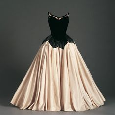 "Charles James, American, 1906-1978 ""Petal"" Ball Gown, 1951 Silk velvet, silk faille and silk satin Gift of Mrs. Eleanor Searle Whitney McCollum 1975.c.221"