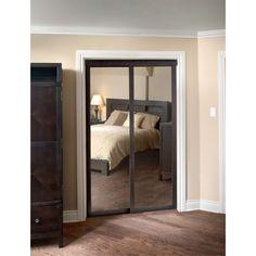 LTL Pinecroft Fusion Chocolate Frame Sliding Mirror Door