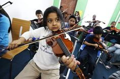An orchestra of children