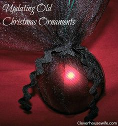 Updating Old Christmas Ornaments