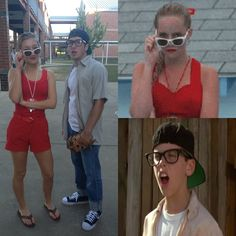My little brother and his girlfriend. Wendy Peffercorn & Squints from The Sandlot! Amazing!