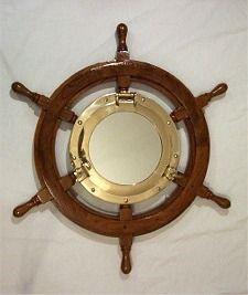 Nautical Mirror - Ship's Wheel & Porthole