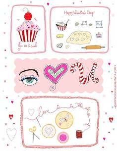Free for Personal Use. Valentine Printable by A Fanciful Twist Valentines 2010 - Bake Sew Sweet