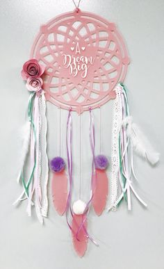 A personal favourite from my Etsy shop https://www.etsy.com/listing/510575912/personalized-dreamcatcher-made-of