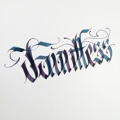 Dauntless. #makedaily #calligraphy #calligraffiti #calligritype…