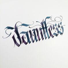 Dauntless. #makedaily #calligraphy #calligraffiti #calligritype…