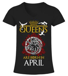 """# Queens Are Born In April .  *** We Ship Worldwide! ***Only available for a LIMITED TIME, so get yours TODAY! Printed in theU.S.A.If you buy 2 or more you will save on shipping!Available in different styles and colors.*Satisfaction Guaranteed + Safe and SecureCheckout via PayPal/Visa/Mastercard*Instructions:Write your Birth Monthand click""""OK""""."""