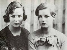 Decca and Debo Mitford Sisters Vintage Photographs, Vintage Photos, The Duchess Of Devonshire, Mitford Sisters, Six Sisters, Sister Photos, Jacqueline Kennedy Onassis, People Of Interest, Old Hollywood Glamour