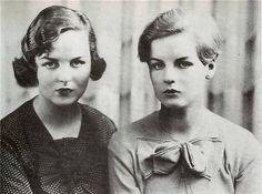 Decca and Debo Mitford Sisters 1930's