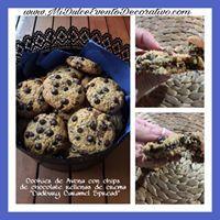 Cookies de avena rellenas de Crema Caramel Spread de Cadbury