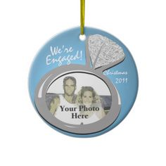 Engagement Ring Photo Ornament