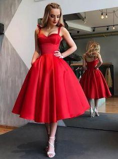 Simple Red Straps Cheap Short Homecoming Dresses Online, CM659 – SposaDresses Trendy Dresses, Elegant Dresses, Short Dresses, Backless Dresses, Wrap Dresses, Trendy Outfits, Cheap Homecoming Dresses, Red Bridesmaid Dresses, Quinceanera Dresses Short