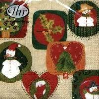 2193 Servilleta decorada Navidad