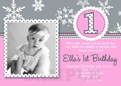 Download Snowflake Birthday Invitations Ideas  Download this invitation for FREE at http://www.bagvania.com/snowflake-birthday-invitations.html