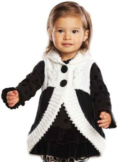 Mud Pie Baby Girls Diva Loop Vest Multi colored 2T 3T >>> More info could be found at the image url. (This is an affiliate link) #BabyGirlSweaters