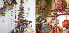 Navidad decorada en estilo boho chic - http://www.decoora.com/navidad-decorada-estilo-boho-chic/