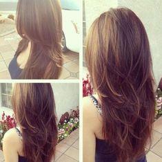 layers long hair back