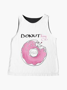"""""""Donuthing once in a while"""" Sleeveless Top by nobelbunt Tank Man, Illustrations, Tank Tops, Artist, Fabric, Prints, T Shirt, Shopping, Black"""