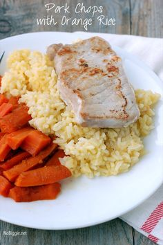 pork chops with orange rice #recipe NoBiggie.net