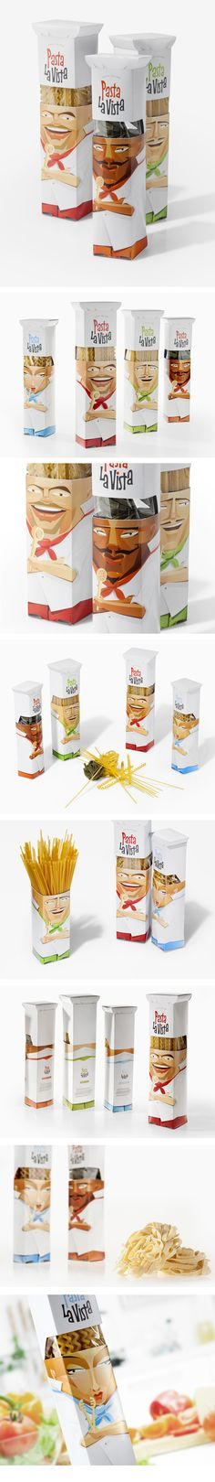 Fun pasta packaging