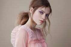 The main styling direction, was carefully planned so it would recreate the soft, feminine mood at its best, harmonizing well with all the pastel colors. Beauty Shoot, Beauty Art, Beauty Skin, Beauty Women, Beauty Makeup, Beauty Blender Video, Beauty Hacks Video, Editorial Hair, Beauty Editorial