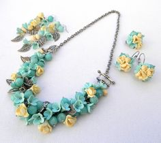 Hey, I found this really awesome Etsy listing at https://www.etsy.com/listing/125418762/mint-jewelry-pastel-jewelry-necklace