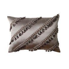 Jennifer Taylor La Rose Synthetic Pillow with Tassel Fringe