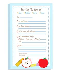 Another great find on #zulily! School Supplies Personalized Excuse Pad - 100 Sheets #zulilyfinds