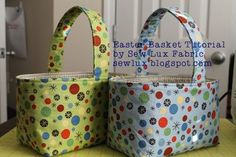 Sew Lux Fabric : Blog: Easter Basket Tutorial