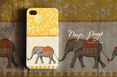 Apple iphone case for iphone iphone 4 iphone 4s iphone 3Gs : Vintage yellow India elephant. $19.90, via Etsy. ~ So sad it's not for the 5!!!