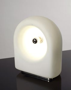 Vela, opaline glass table lamp by Claudio Salocchi