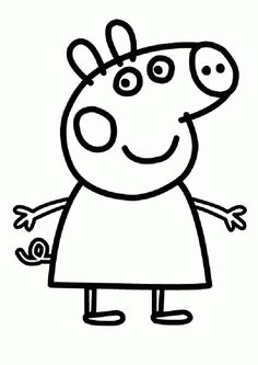 Peppa Pig show revolves around Peppa, an anthropomorphic female pig & her life with her family & friends. Check 35 free printable peppa pig coloring pages. Peppa Pig Coloring Pages, Family Coloring Pages, Valentine Coloring Pages, Online Coloring Pages, Cartoon Coloring Pages, Animal Coloring Pages, Coloring Pages To Print, Coloring Book Pages, Printable Coloring Pages