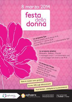 #Poster #Festa della #Donna per Sphaera Palestre & #Piscine #Bergamo (2014)