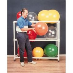 Cando Floor Mobile Ball Rack