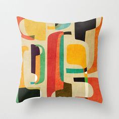 Rad Retro Throw Pillow Cover | dotandbo.com
