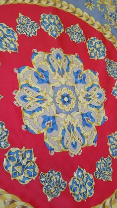 a096e1faac48 Vintage Pure Silk Scarf by Famous House of VAKKO Turkey Satin Weave With Gold  Leaf Painting