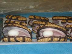 Clam cookies I made for Joseph's under the sea party. Would work for a mermaid party or pirate party too.