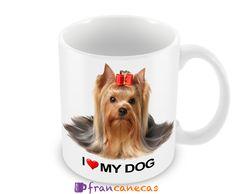 Caneca Personalizada I Love My Dog Ideal para presentear colaboradores, amigos ou pessoas especiais. Canecas personalizadas Premium, com alt...