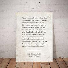 Velveteen Rabbit Wall Art, Velveteen Rabbit Art Print, Margery Williams, Literary Print, Classic Children's Books, Velveteen Rabbit Quote Sheet Music Art, Classic Quotes, Rabbit Art, Music Wall, Crisp Image, Vintage Sheets, Literary Quotes, Book Pages, Bibliophile