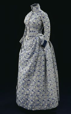 Love this fabric  Victorian Dress   c. 1880's