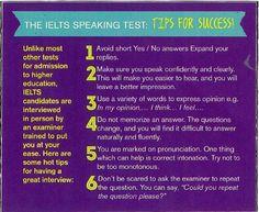 IELTS Speaing tips.