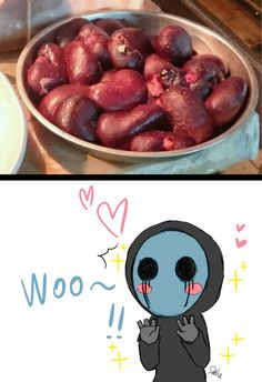 Eyeless Jack--- Can I has some, too? :3 ((I am actually hungry and if there was a bowl of Kidneys in front of me right meow...I might try one...or two...or have have of the bowl...XD))