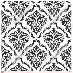 Stencil 171 - Damask repeat sheet - size Cut from durable stencil material.